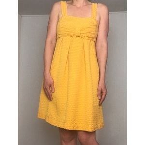 See by Chloe Yellow Textured Dress - Silk Blend